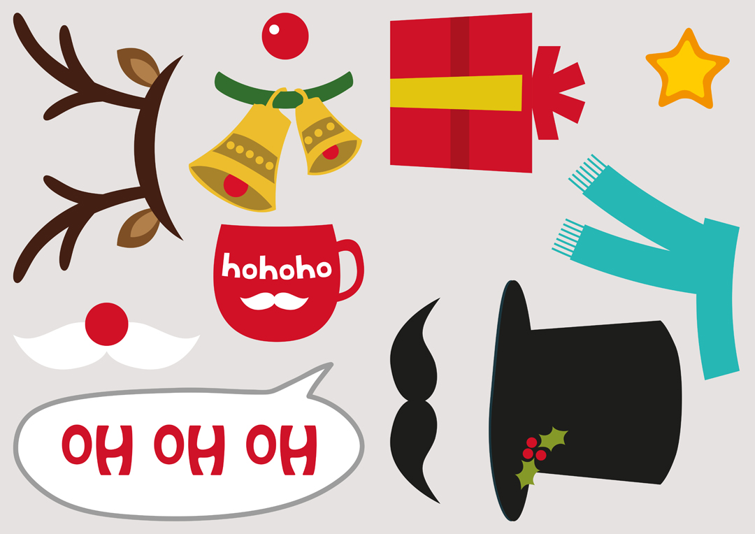 image regarding Christmas Photo Booth Props Printable named Obtain Our Cost-free Xmas Photograph Booth Props Photobox