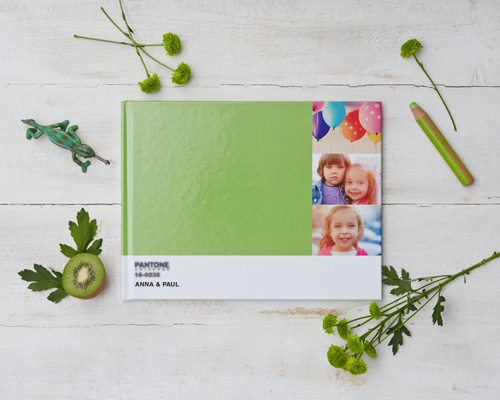 Create a green Pantone photo book made up of all your holiday photos