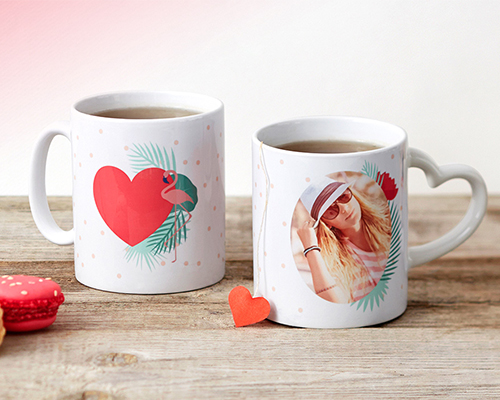 tropical jungle themed personalised mugs