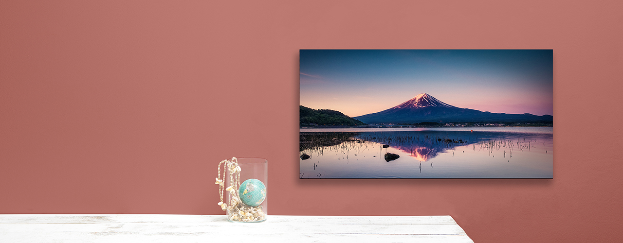 Panorama canvas of a mountain hanging on the wall