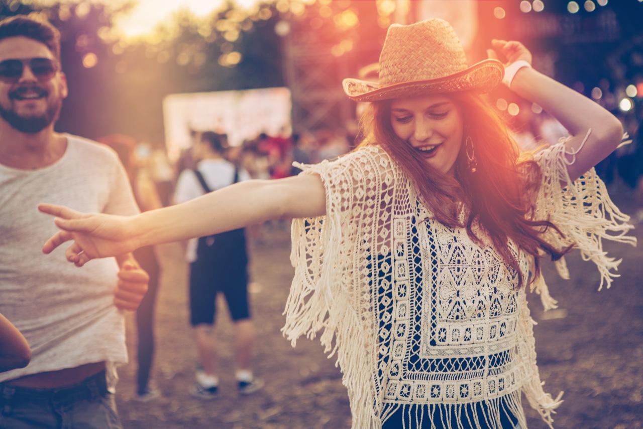 girl at a music festival