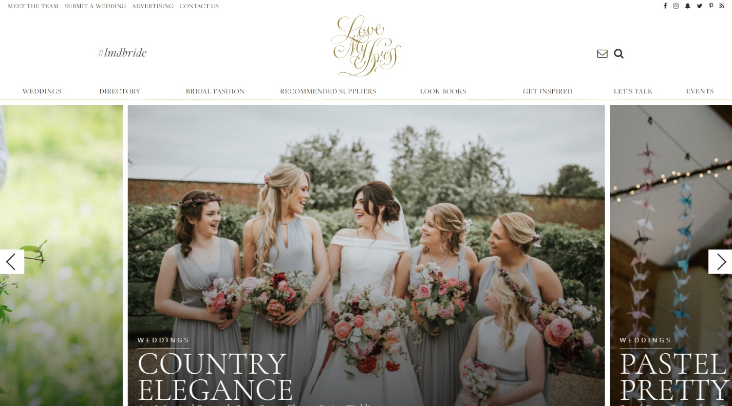 Top 15 best wedding blogs of 2017 showcasing pictures from real weddings submitted by the blogs loyal fan base love my dress is the place to go for top tips on timeless weddings junglespirit Image collections