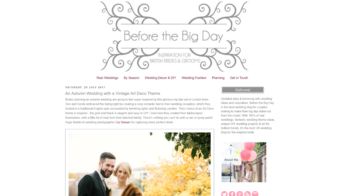 Top 15 best wedding blogs of 2017 3 before the big day junglespirit Image collections