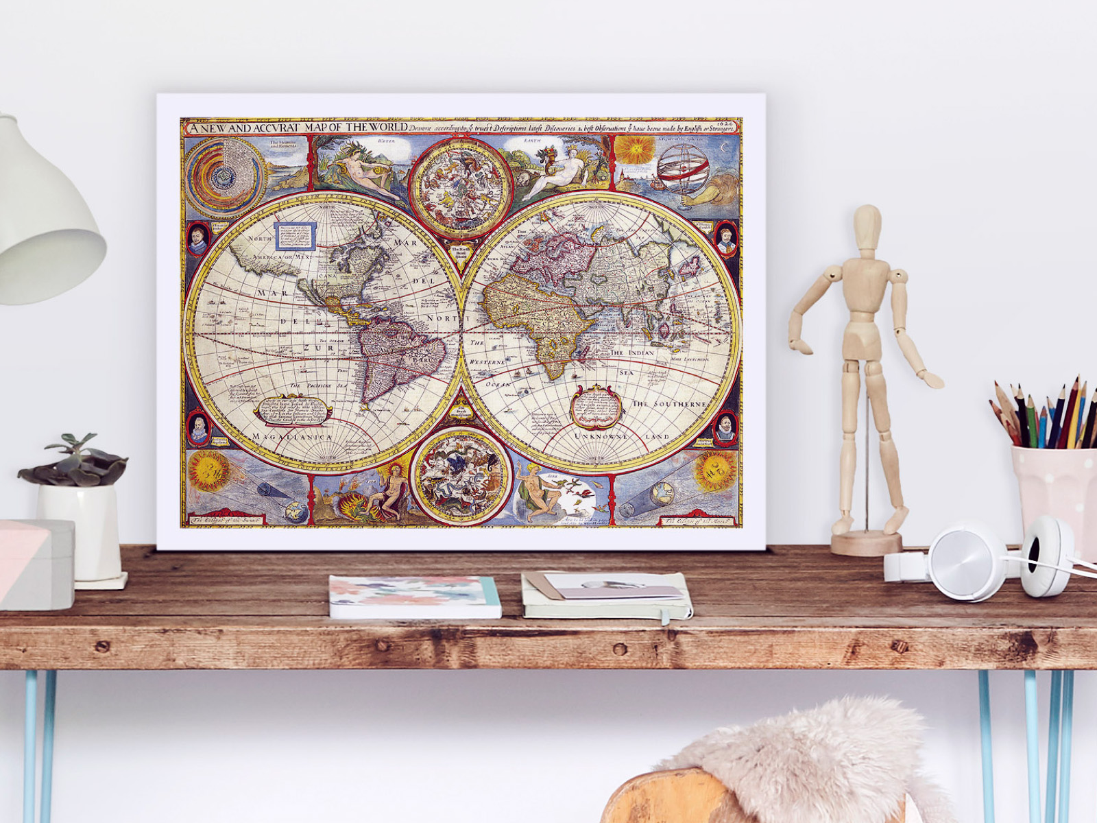 How to print old maps to personalise your home | Photobox