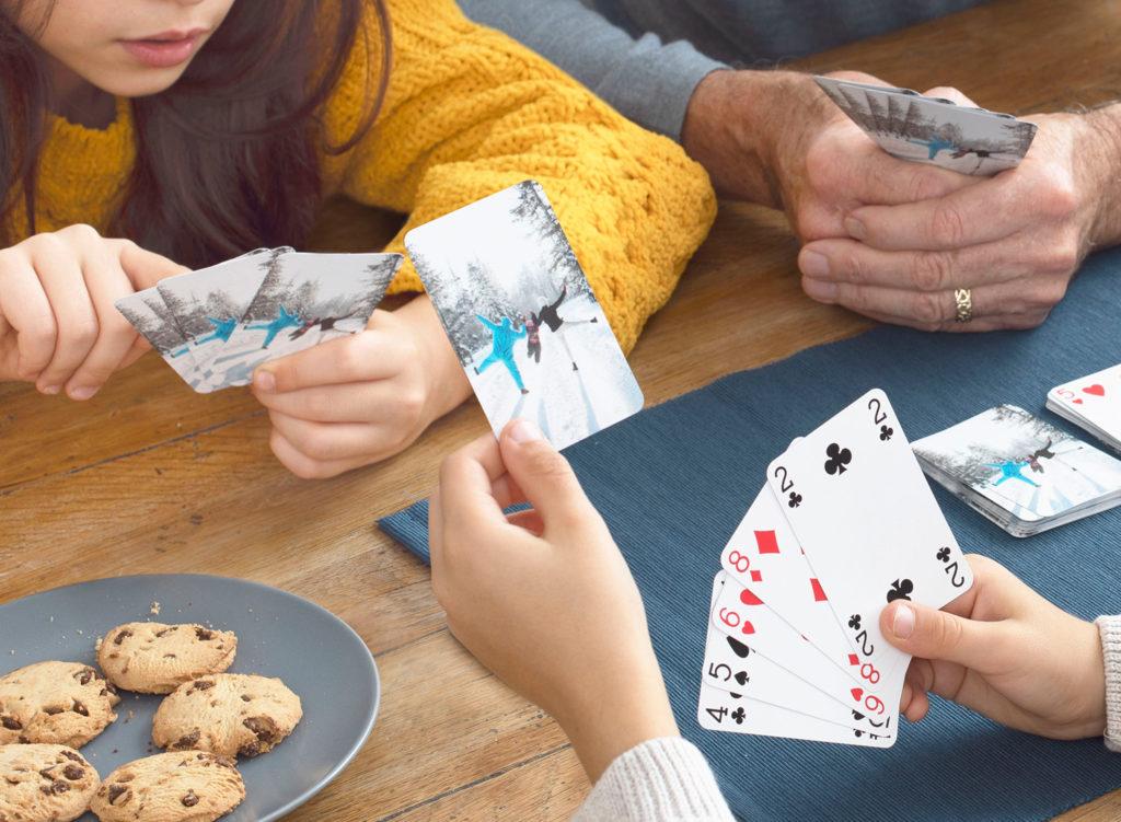 un jeu de carte personnalisé cadeau de noel enfants