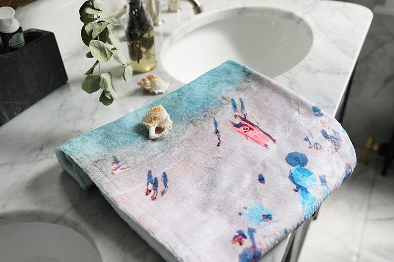 une serviette personnalisée cadeau de noel enfants