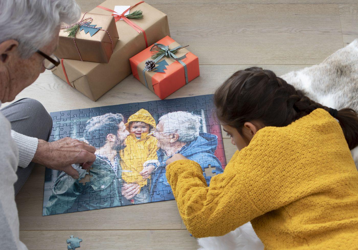 puzzle personnalisé cadeau de noel
