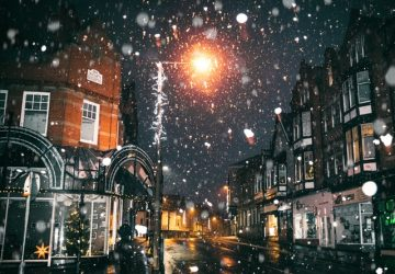 London under the snow